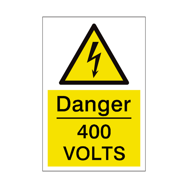 400 Volts Sign | PVC Safety Signs