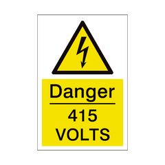 415 Volts Sign | PVC Safety Signs | Health and Safety Signs