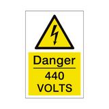 440 Volts Sign | PVCSafetySigns.co.uk
