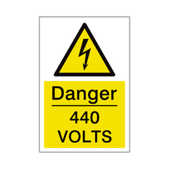 440 Volts Sign | PVC Safety Signs | Health and Safety Signs