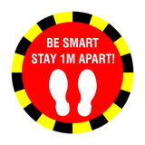 Stay 1 Metre Apart Floor Sticker - Red - PVC Safety Signs