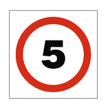 5 Mph Speed Sign - PVC Safety Signs