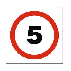 5 Mph Speed Sign