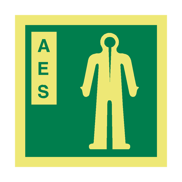 AES Symbol IMO Sign - PVC Safety Signs