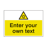 Automatic Start Up Custom Safety Sign | PVCSafetySigns.co.uk