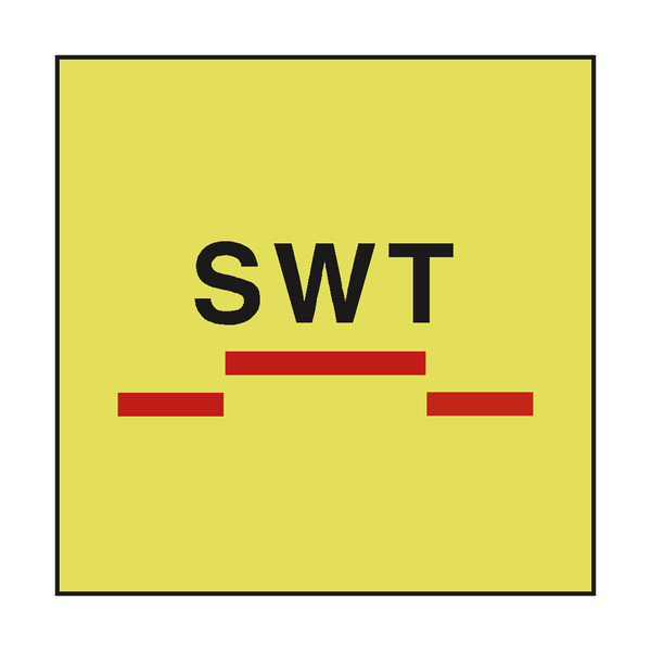A CLASS SWT SLIDING FIRE DOOR IMO SIGN