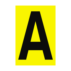 Letter A Yellow Sign | PVC Safety Signs | Health and Safety Signs