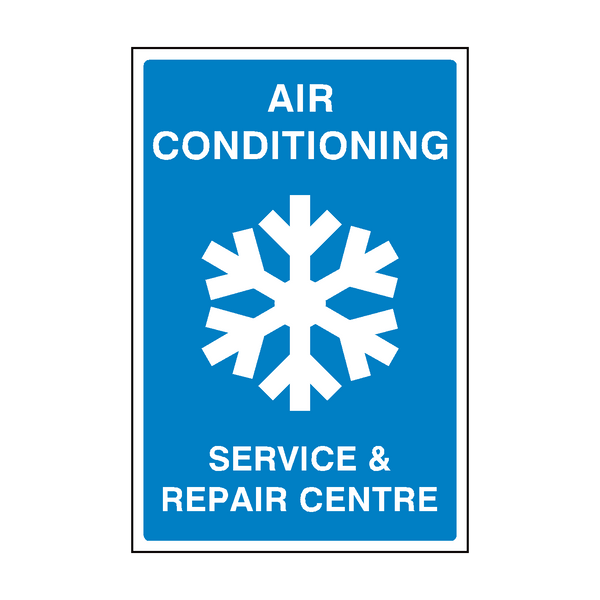Air Con Garage Sign - PVC Safety Signs