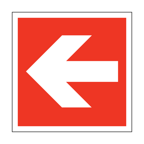 Arrow Safety Sign Left | PVCSafetySigns.co.uk