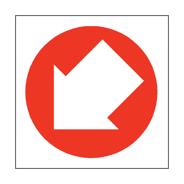 Arrow Sign Down Left - PVC Safety Signs
