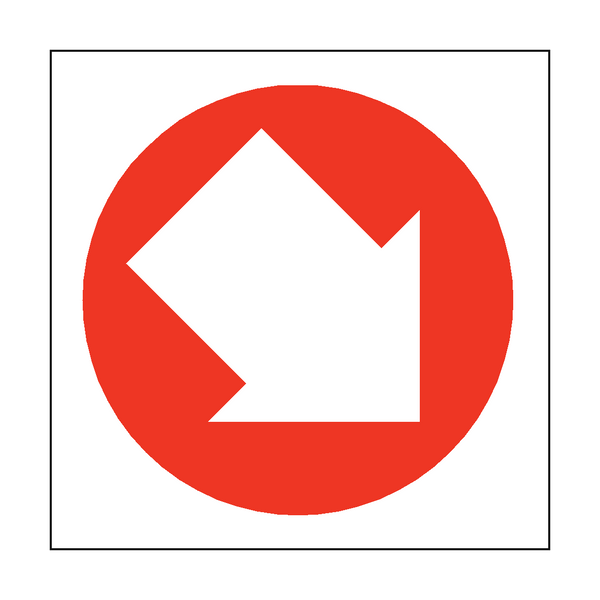 Arrow Sign Down Right | PVCSafetySigns.co.uk