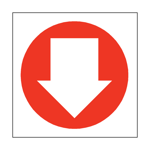 Arrow Sign Down | PVCSafetySigns.co.uk