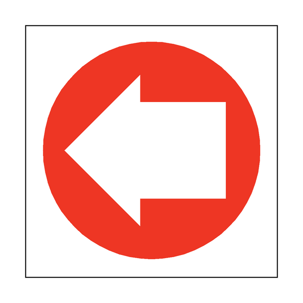 Arrow Sign Left | PVC Safety Signs