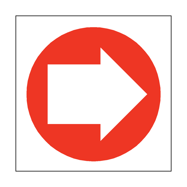 Arrow Sign Right | PVCSafetySigns.co.uk
