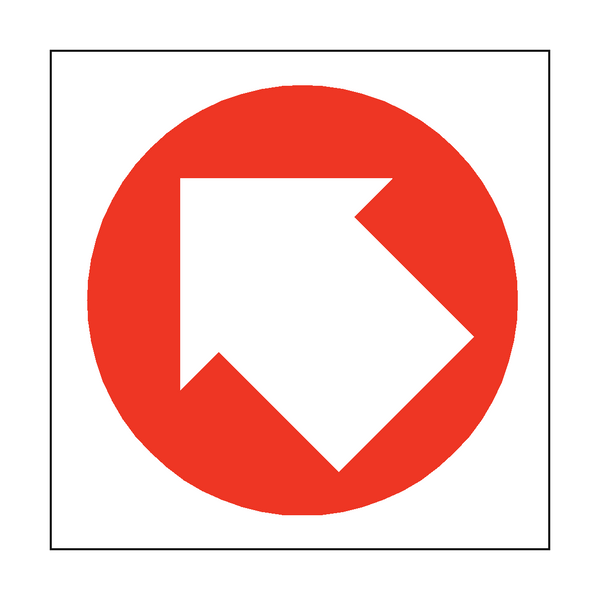 Arrow Sign Up Left | PVCSafetySigns.co.uk