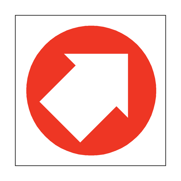 Arrow Sign Up Right - PVC Safety Signs