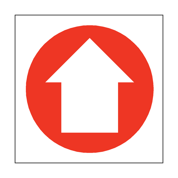 Arrow Sign Up | PVCSafetySigns.co.uk