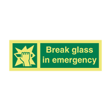 Break Glass IMO Safety Sign - PVC Safety Signs