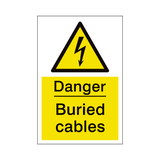 Buried Cables Sign | PVCSafetySigns.co.uk