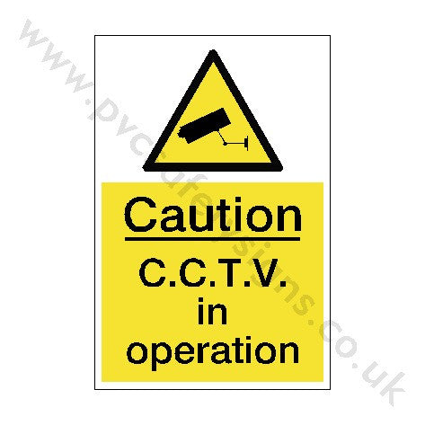 CCTV In Operation Sign | PVC Safety Signs