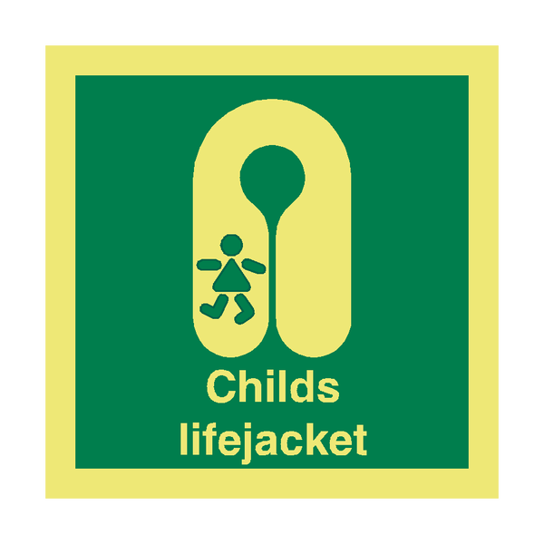 Child Lifejacket Safety Sign - PVC Safety Signs