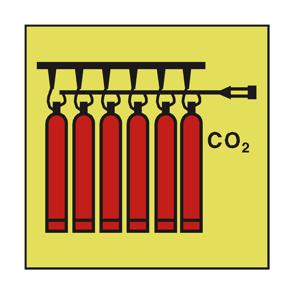 CO2 BATTERY IMO SAFETY SIGN