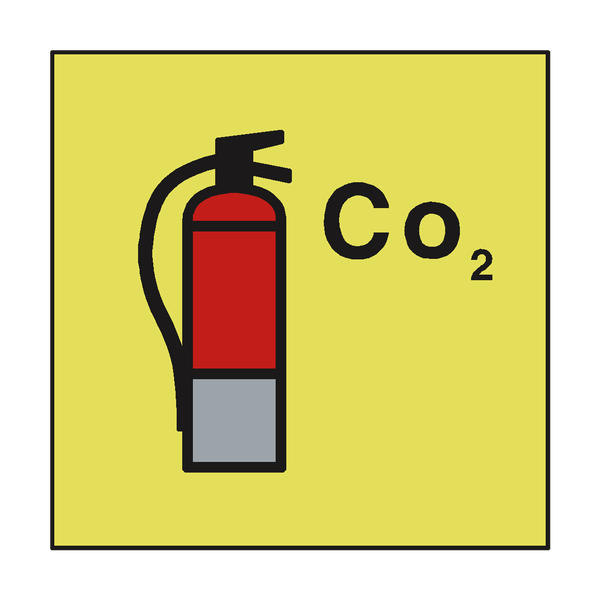 CO2 FIRE EXTINGUISHER IMO SIGN