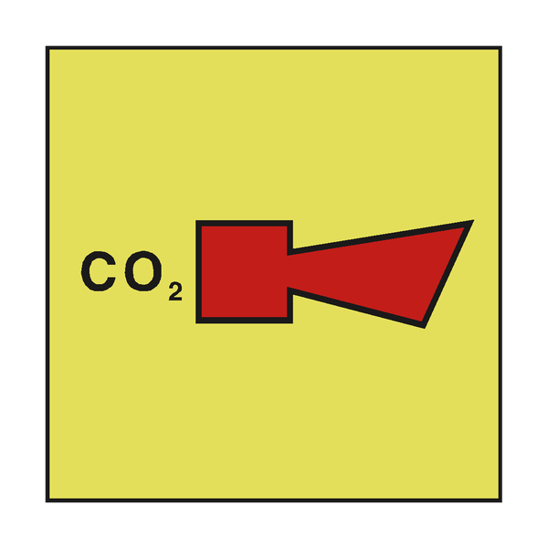 CO2 HORN IMO SAFETY SIGN