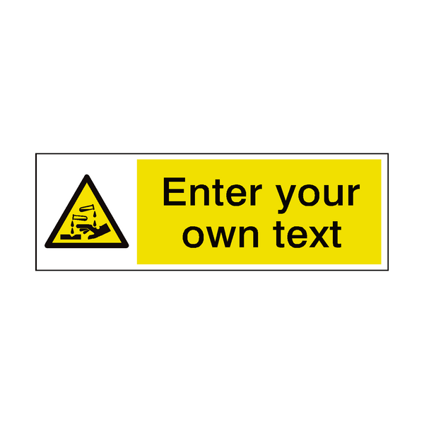 Corrosive Custom Sign | PVCSafetySigns.co.uk