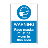 Face Masks Must Be Worn Sign | PVC Safety Signs