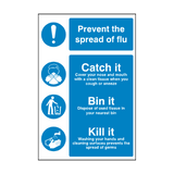 Flu Prevention Sign | PVC Safety Signs