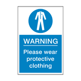 Protective Clothing Must Be Worn Sign | PVC Safety Signs