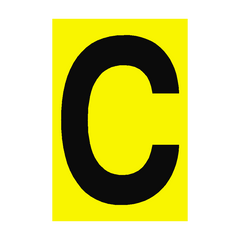 Letter C Yellow Sign | PVC Safety Signs | Health and Safety Signs