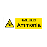 Caution Ammonia Hazard Sign - PVC Safety Signs