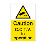 CCTV In Operation Sign Portrait | PVCSafetySigns.co.uk