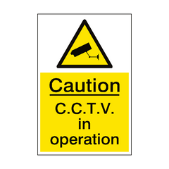 CCTV In Operation Sign Portrait | PVC Safety Signs | Health and Safety Signs