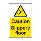 Slippery Floor Hazard Sign Portrait | PVC Safety Signs