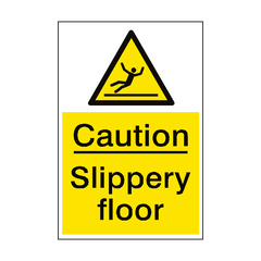 Slippery Floor Hazard Sign Portrait | PVC Safety Signs | Health and Safety Signs