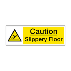 Slippery Floor Caution Sign | PVC Safety Signs | Health and Safety Signs