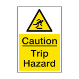 Caution Trip Hazard Sign Portrait | PVCSafetySigns.co.uk