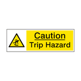 Caution Trip Hazard Sign | PVCSafetySigns.co.uk