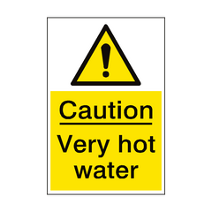 Very Hot Water Hazard Sign Portrait | PVC Safety Signs | Health and Safety Signs