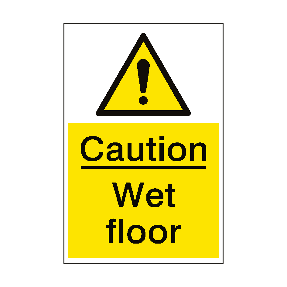 print foldable genuine wet floor bundle yellow message products sign graphic universal joe