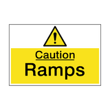 Caution Ramps Hazard Sign | PVCSafetySigns.co.uk