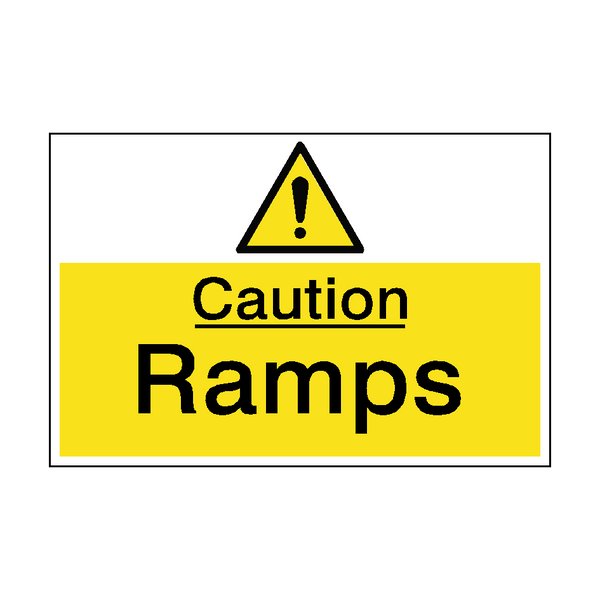 Caution Ramps Hazard Sign - PVC Safety Signs