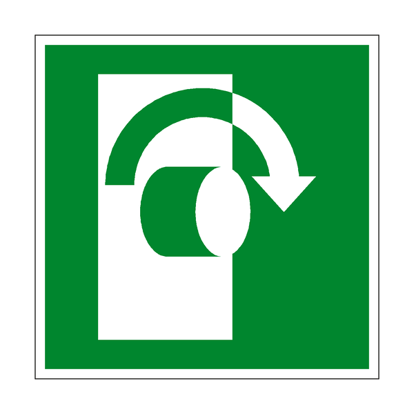 Clockwise to Open Symbol Sign
