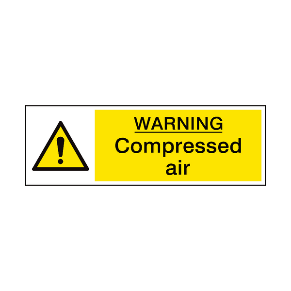 Compressed Air Garage Sign | PVCSafetySigns.co.uk