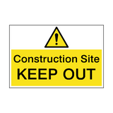 Construction Site Keep Out Hazard Sign | PVC Safety Signs