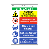 Construction Site Safety Custom Sign - PVC Safety Signs
