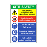 Construction Site Safety Sign - PVC Safety Signs